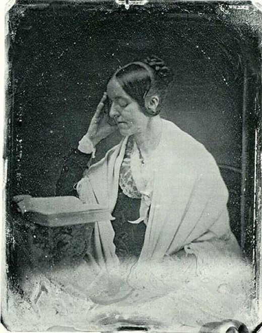 A copy of the only known surviving photograph of author Margaret Fuller.