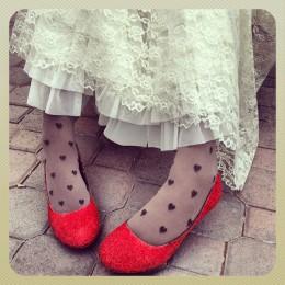 DIY Martha Stewart Glitter Shoes & Heels by Heather says
