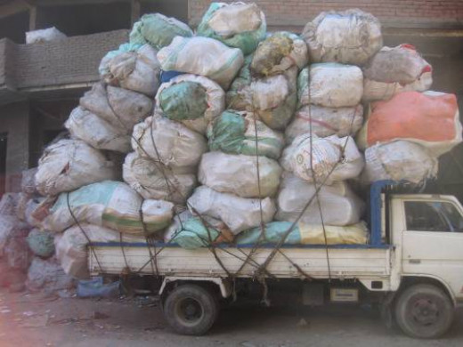 Truck headed towards Garbage City Egypt