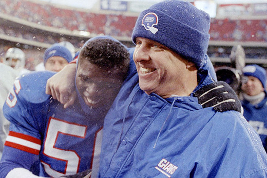 Bill Parcells and Lawrence Taylor