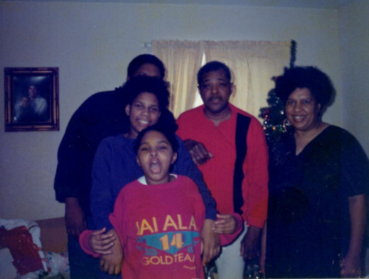 The Wilkins Family Christmas Photo (My childhood years)