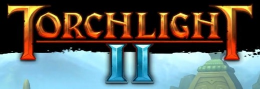 Screenshot of the logo from Torchlight II.