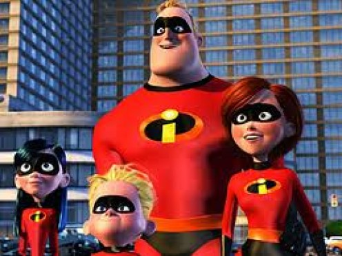 The Incredibles feature unique computer generated graphics and a fll onslaught of laughter.