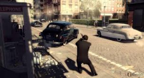 Their are several video games that are based on the mafia crime families including: Mafia, Mafia 2( Pictured), Godfather and Godfather 2.