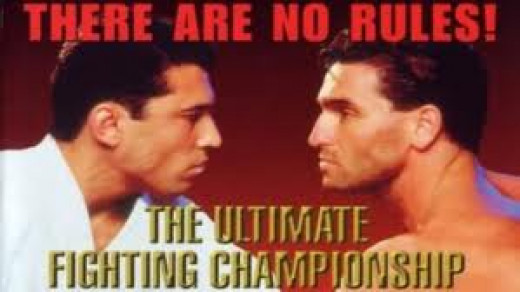 Royce Gracie fought Ken Shamrock in the first ever UFC tournament and Gracie won by quick submission.