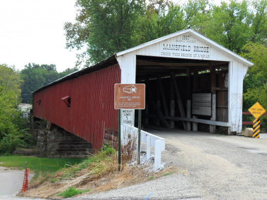 Mansfield Covered Bridge was built in 1867.