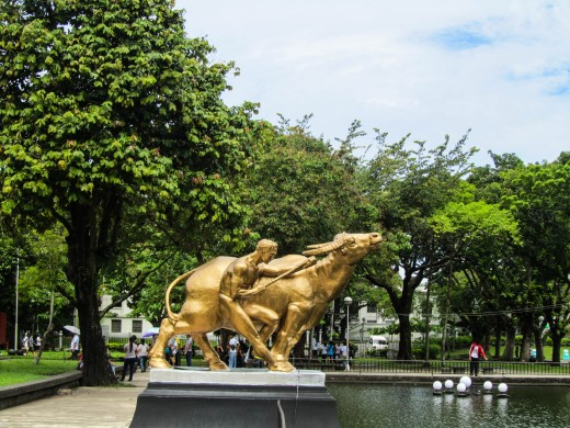 The other statue in the Capitol Park and Lagoon of Bacolod