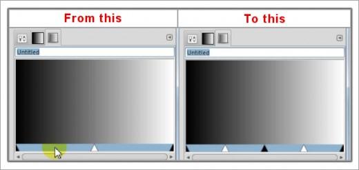 Fig. 2  Create custom gradients in GIMP 2.8