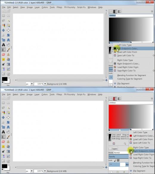 Fig 3  Create custom gradients in GIMP 2.8