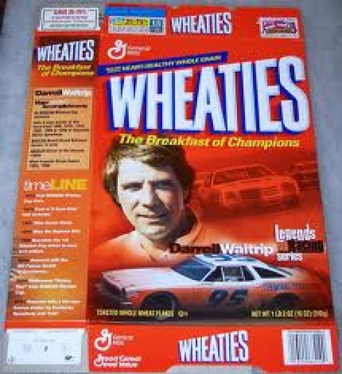 Darrell Waltrip was sponsored by Wheaties at the height of his career. He has had some great finishes at the height of his racing career.