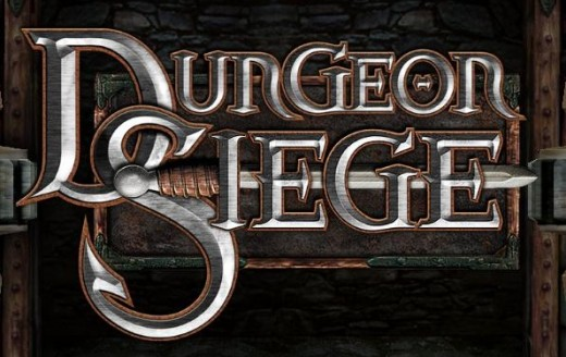 Screenshot of the logo from Dungeon Siege.