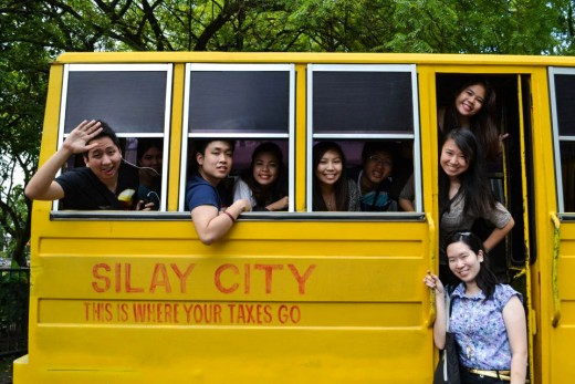 Bus courtesy of Silay City (neighboring city of Bacolod)
