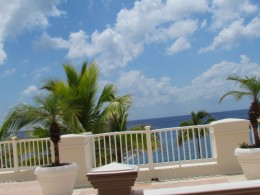 A magnificent view from our balcony at Cozumel Palace.
