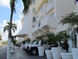 In the front of Cozumel Palace, you can rent vehicles for the day to drive around the island.