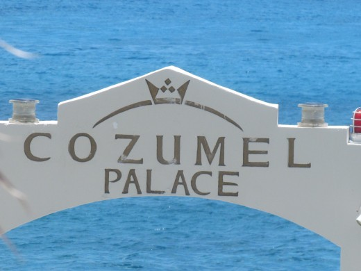 Boats arrive at the pier of Cozumel Palace.