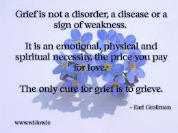 The only cure for grief is to grieve.