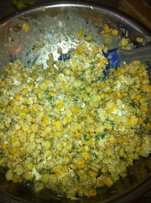 Add corn to mixture.