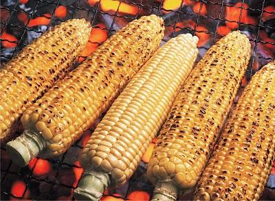 Char the corn.