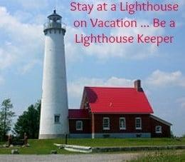 Tawas Point Lighthouse on Lake Huron, Michigan