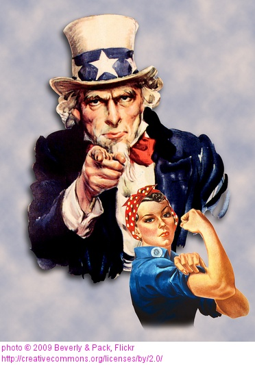 Rosie the RIveter was an Icon for all women in the 1940s who supported themselves by getting jobs and enlisting along with their American men during WW2