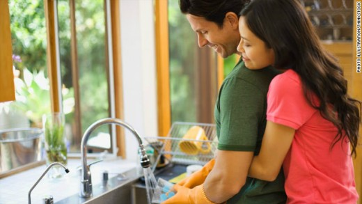 Sexual play during chores is a great way to keep the sparks burning in a long-term commitment.