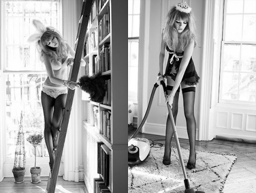 There are lots of ways to seduce your man while doing chores.