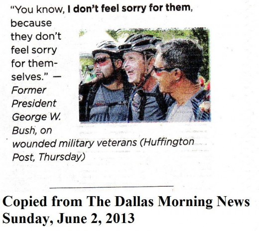 George W. Bush said he does not care about wounded veterans.  Did he ever?