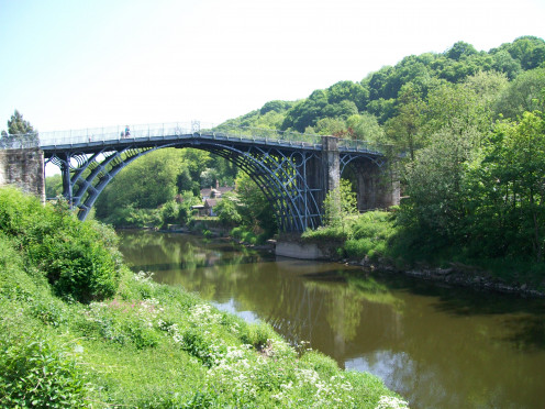 The Ironbridge in high spring