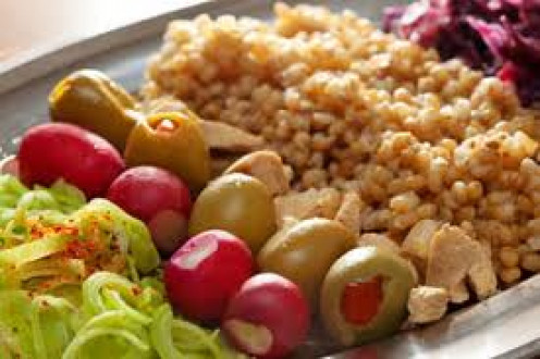 Croatian foods with olives