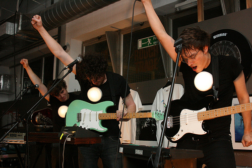 Metronomy at London Rough Trade East performing.