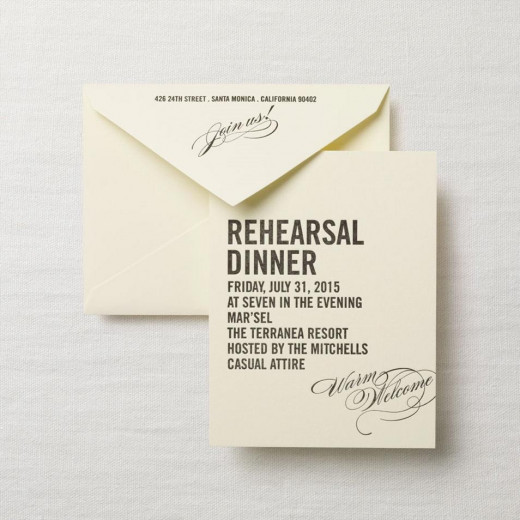 Wedding Gift For Parents At Rehearsal Dinner : Wedding Rehearsal Dinner Invitation