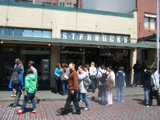 Urban myth was that this was the site of the first Starbucks coffee shop.  Not so. The first shop opened on March 30, 1971, and was originally located at 2000 Western Avenue. It was then moved to 1912 Pike Place Market for good in 1976.
