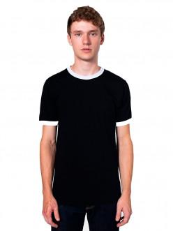 Classic retro Ringer T-shirt. Invented in the 1960s