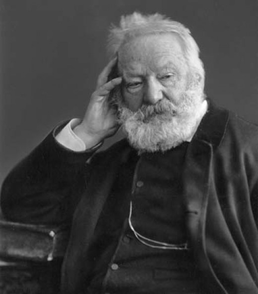 This photograph of Victor Hugo was taken circa 1884 by Gaspard-Félix Tournachon (Felix Nadar). It is in the public domain in the United States and those countries with a copyright term of life of the author plus 100 years or less.