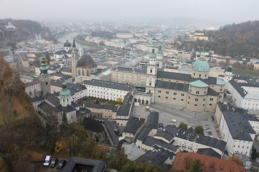 The city of Salzburg, Austria