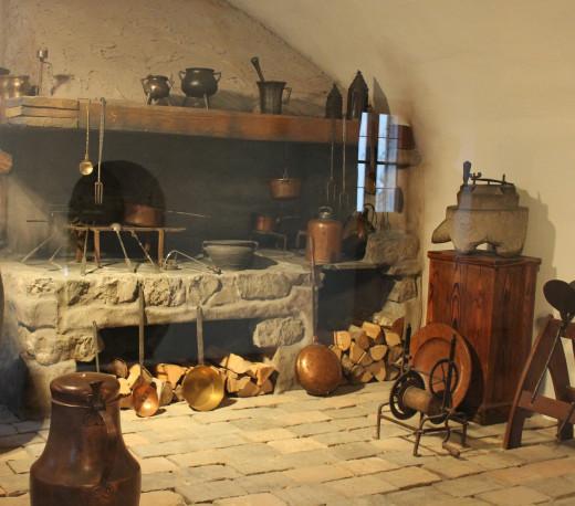 Castle kitchen, Hohen Salzburg, Austria