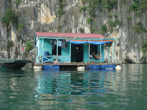 Floating House at Ha Long Bay