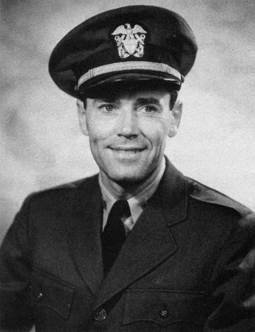 This is Henry Fonda in his real Navy uniform.