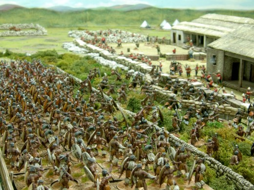 Zulu attacks against Rorke's Drift