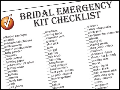 A Wedding Day Emergency Checklist