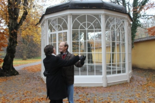 The gazebo used in the film was in Salzburg. The million visitors a year it attracted became such a problem that the owners arranged to send the gazebo out of town. It is now in a public park out of town but is locked.