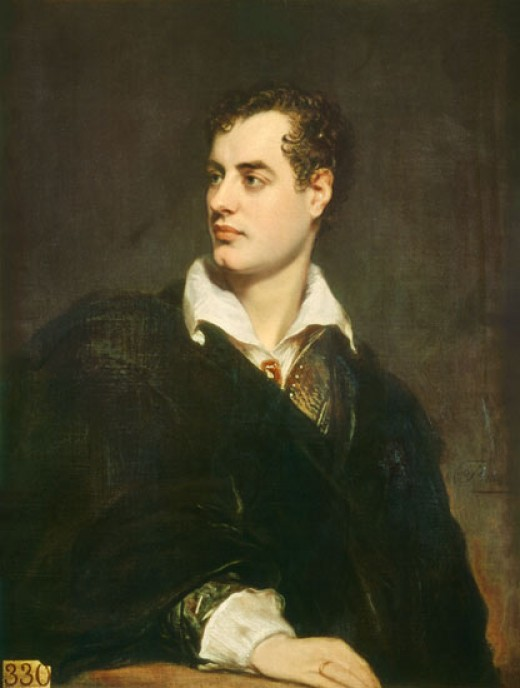 This painting of George Gordon Noel, 6th Baron Byron (popularly known as Lord Byron) is in the public domain due to its age.