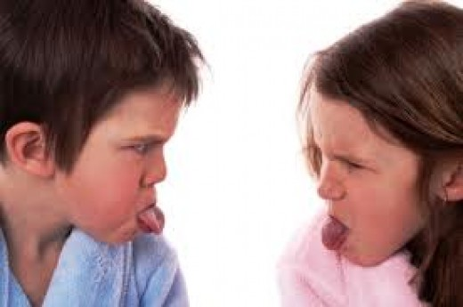 Sibling rivalry is quite de rigueur in families where there is more than 1 child. Children in such families routinely vy for parenta attention & favor.They are often not above using manipulative means against each other to get this attention.