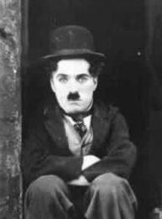 "Charlie Chaplin in ""The Tramp"""