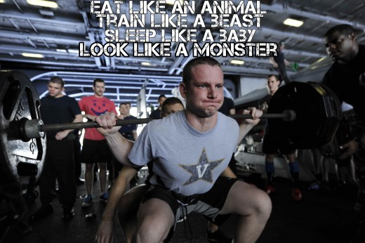 Motivational Quotes For Exercise/Workout(Eat like an animal, train like a beast), U.S. Army