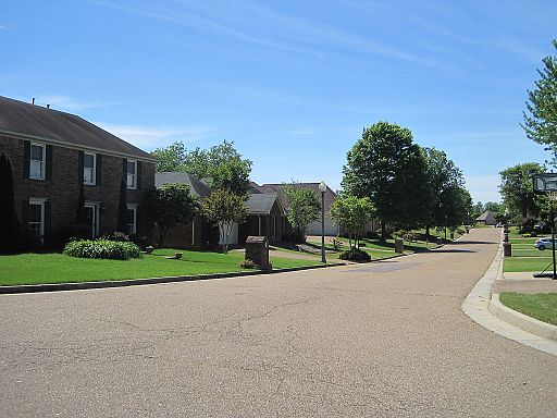 """The trail wended its way through a suburban subdivision which is where we encountered the """"Ice Cream Lady""""."""
