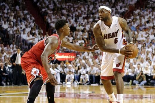 Jimmy Butler guarding LeBron