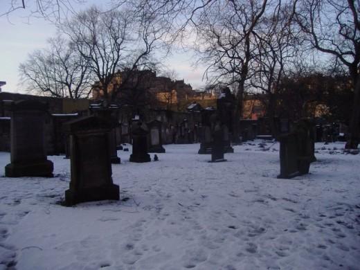 Greyfriar's Churchyard Edinburgh - poltergeists and evil are said to stalk this area.