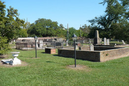 A View Inside The Church Street Graveyard In Mobile Alabama.
