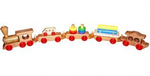 A wooden train set was the first type of train set made. They are now made of metal, wood or even plastic. They used to require a power outlet. Now they can have an outlet, batteries or some are even solar powered.